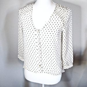 Anthro Pins and Needles High-Low Blouse Size XS